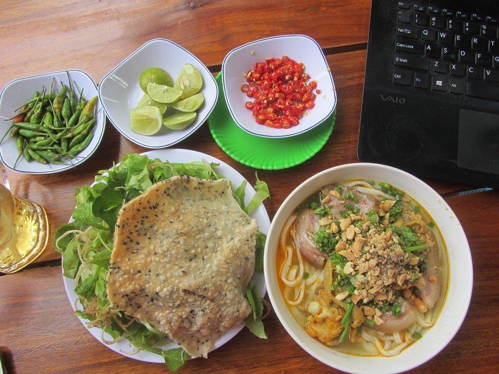 Mì Quảng noodles in Ba Ria, Vietnam