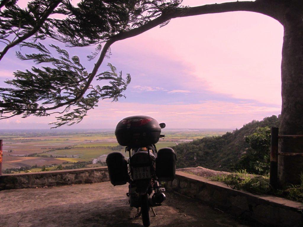 Riding to Ha Tien by motorbike, Vietnam