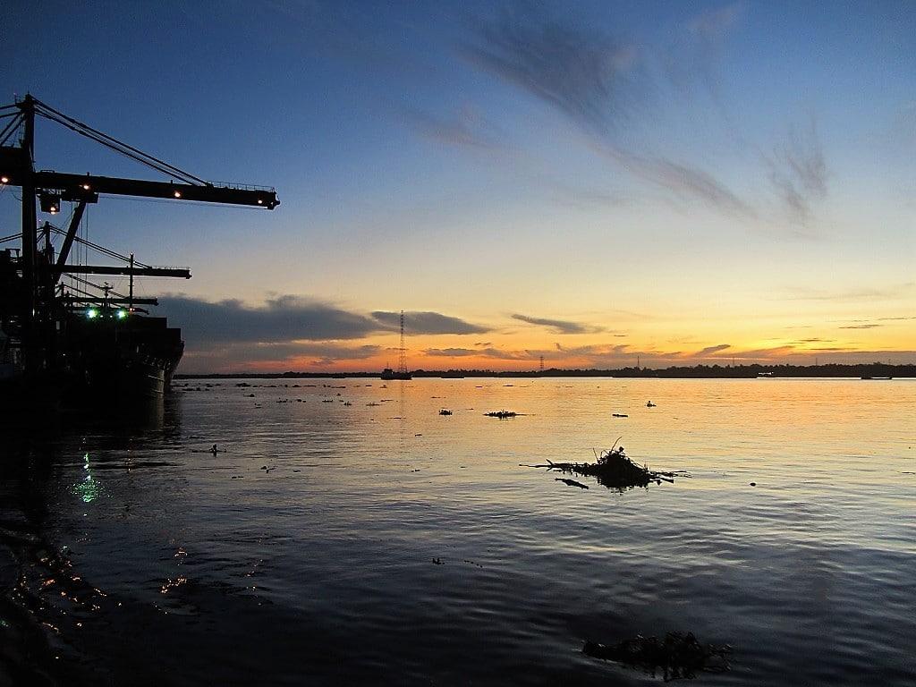 Dawn on the Saigon River, Vietnam