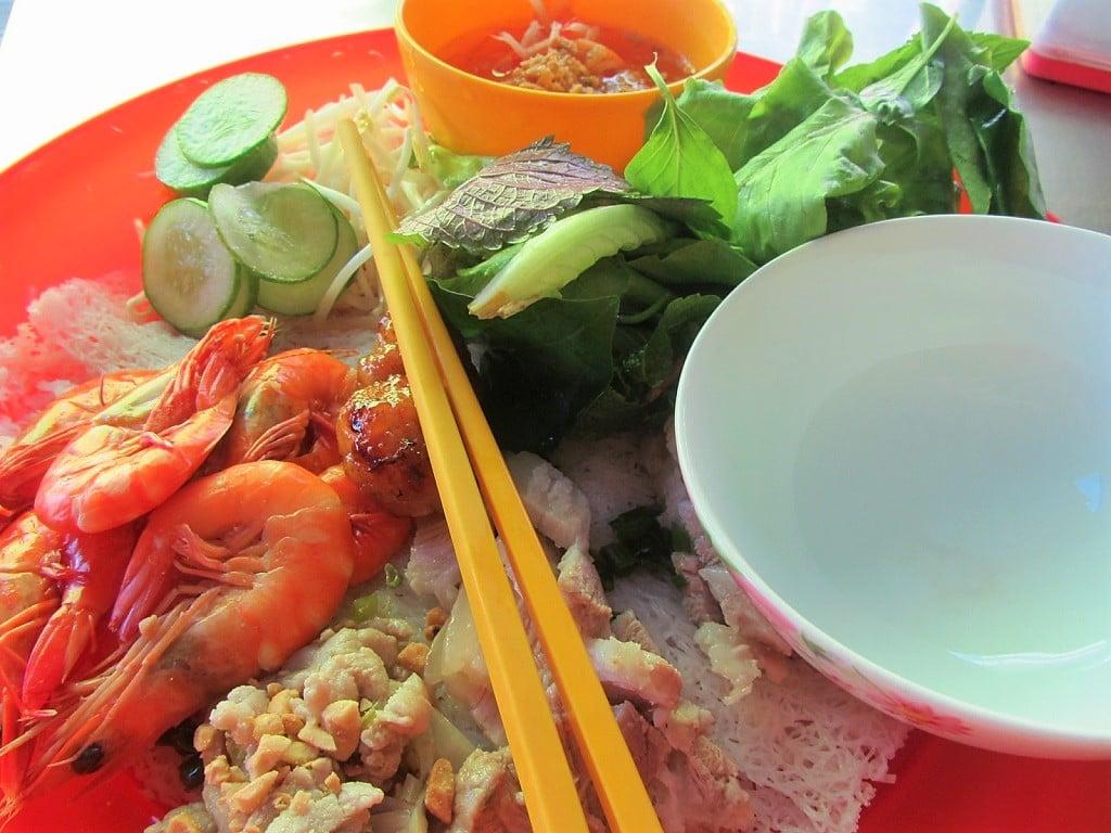 Bánh hỏi rice noodle latices, Ha Tien, Vietnam