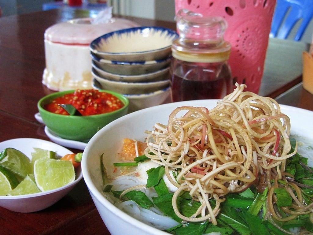 Bún cá fish noodle soup, Ha Tien, Mekong Delta, Vietnam