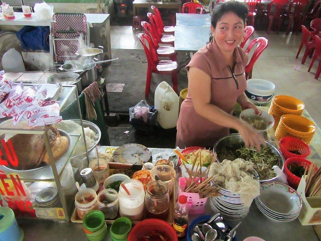 Noodle soup vendor, Ha Tien market, Mekong Delta, Vietnam