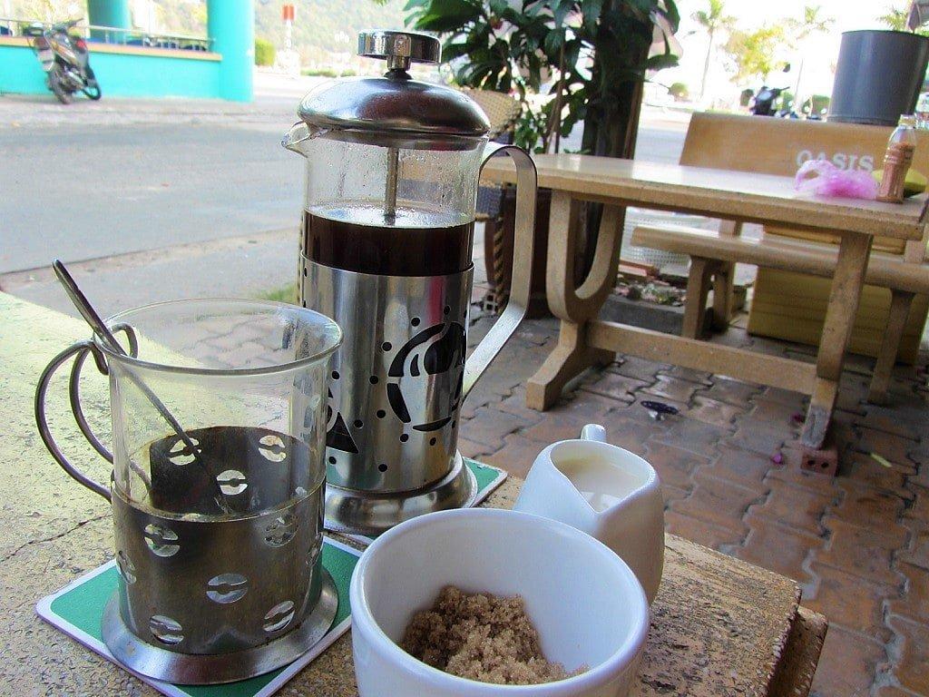 Coffee at Andy's Oasis Bar, Ha Tien, Mekong Delta, Vietnam