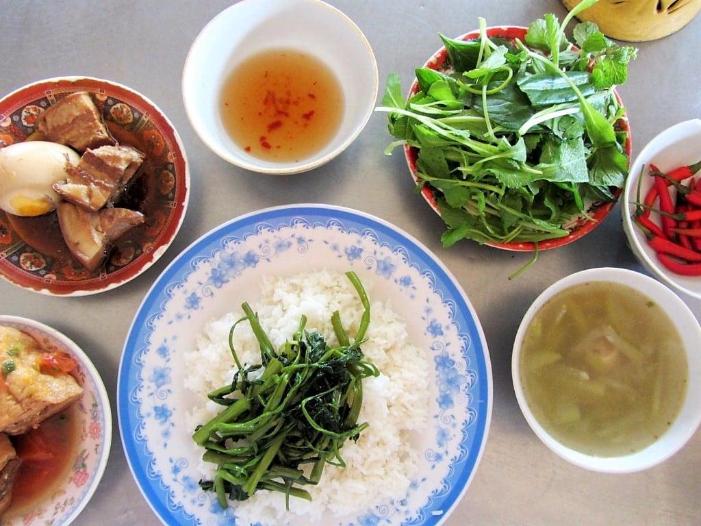 Cơm bình dân (rice eatery), Ha Tien, Mekong Delta, Vietnam