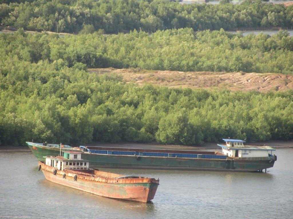 River barges on Dong Ho Lake, Ha Tien, Vietnam
