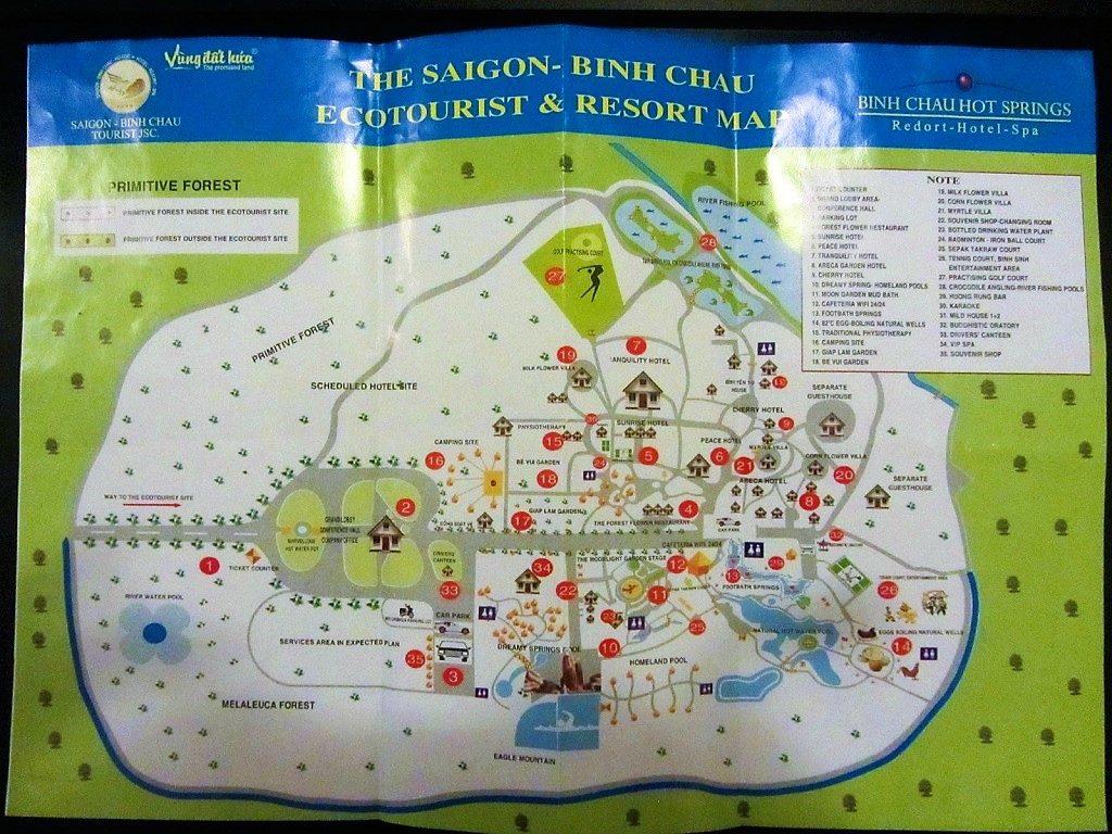 Map of Binh Chau Hot Springs Resort & Spa