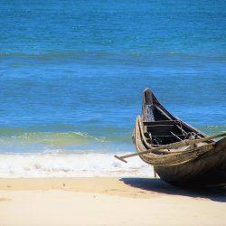 Empty beaches near Cua Viet, Quang Tri Province, Vietnam