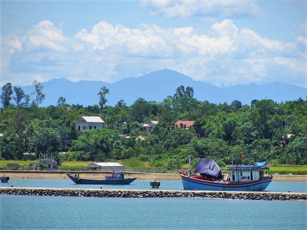 Boats at the Ben Hai River estuary, Quang Tri, Vietnam