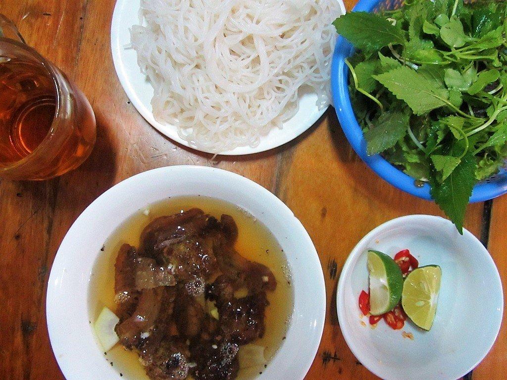 Bún chả in Pho Chau, Vietnam