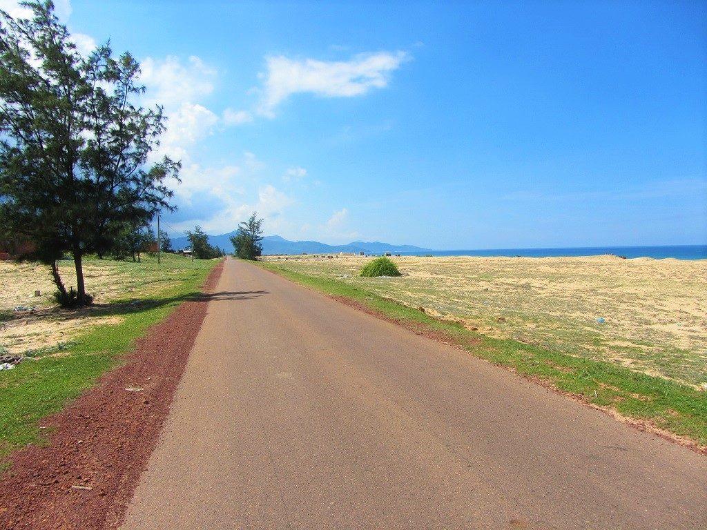 Empty coast road north of Quy Nhon, Vietnam