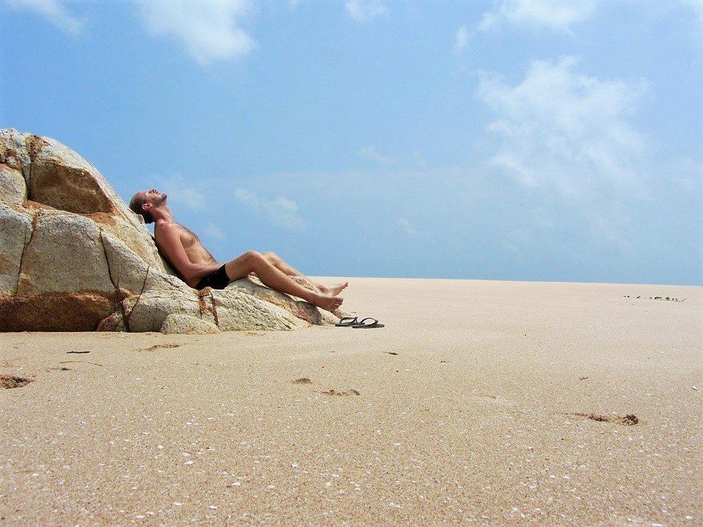Relaxing on Ke Ga Beach, Vietnam