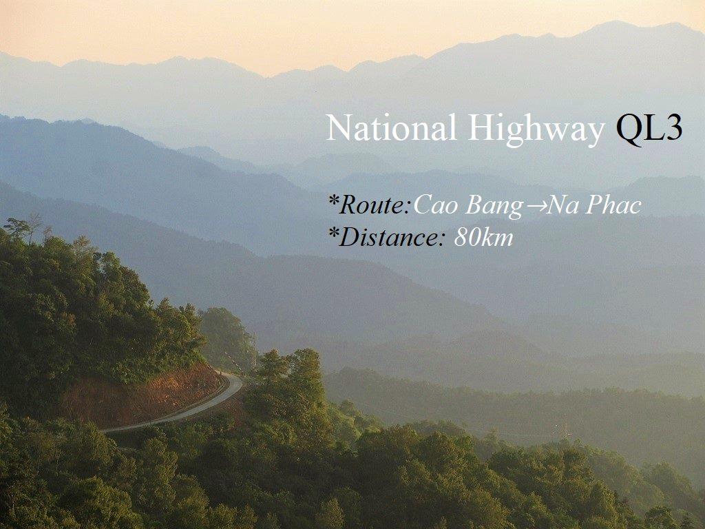 National Highway QL3, Cao Bang & Bac Kan provinces, Vietnam