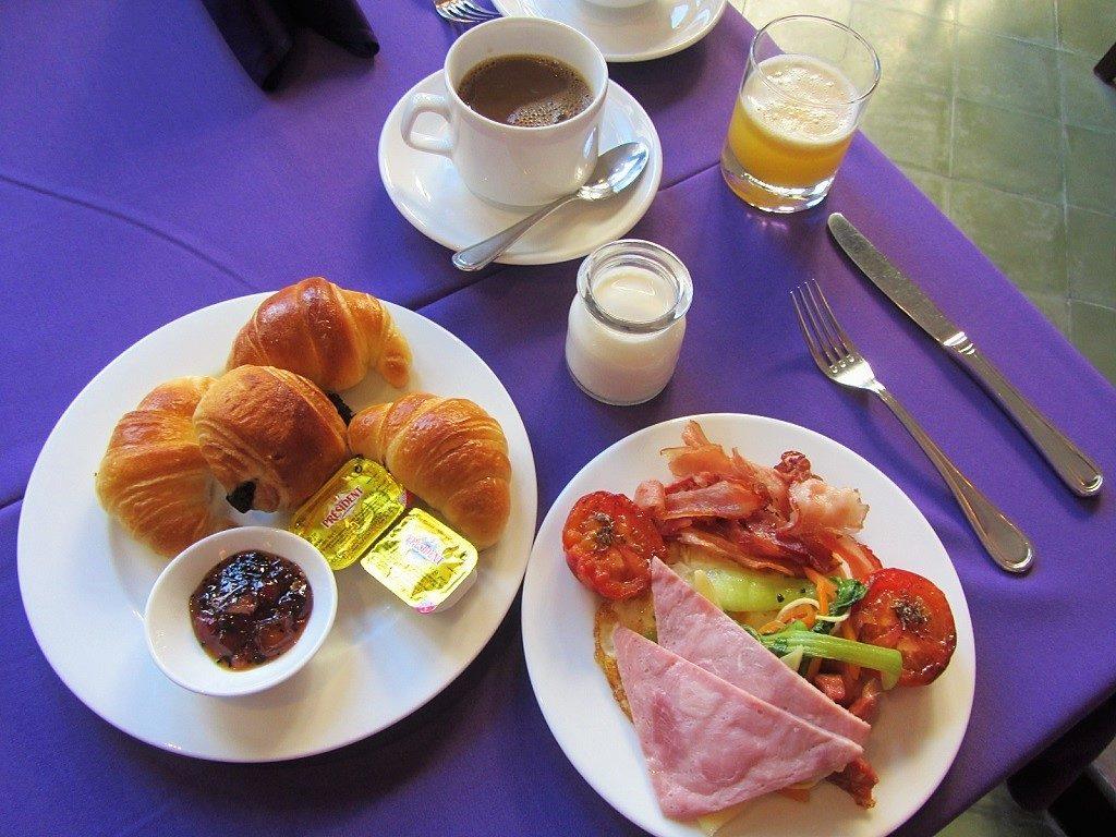 Breakfast at Villa Hue Hotel, Hue City, Vietnam