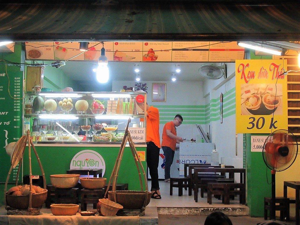 Coconut ice cream at Nguyen Huong, District 10, Saigon (Ho Chi Minh City)
