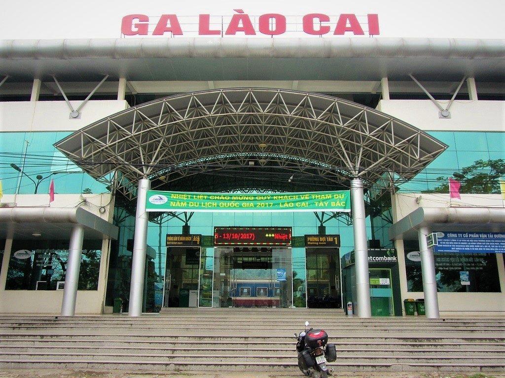 Lao Cai train station, Vietnam