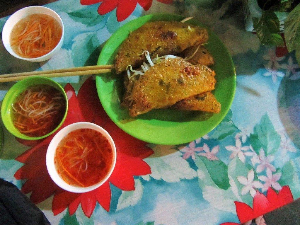 Bánh xèo savoury pancakes, Vietnam