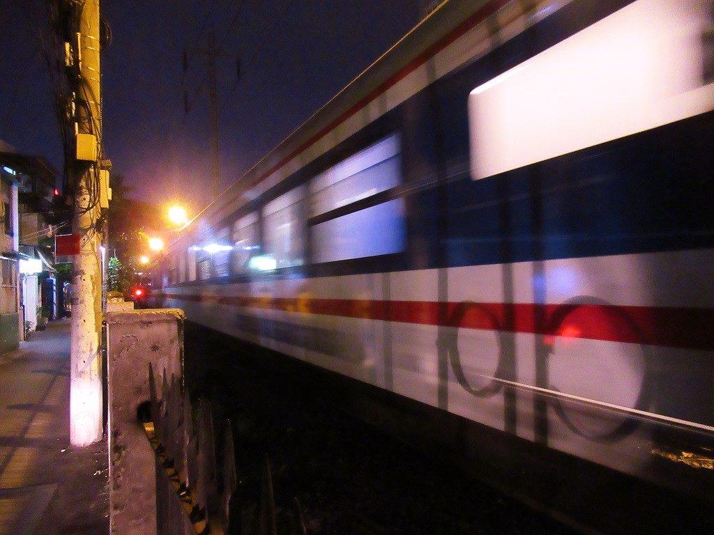 A passing train, Saigon, Ho Chi Minh City, Vietnam