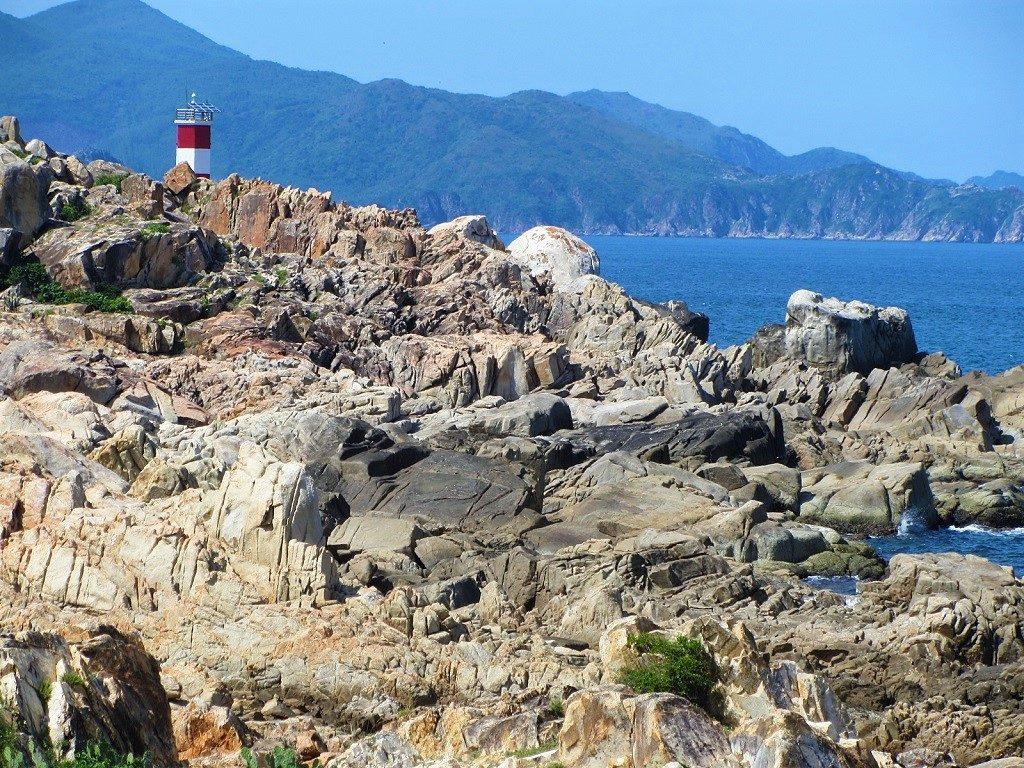 The lighthouse at Ganh Da Dia, Phu Yen Province, Vietnam