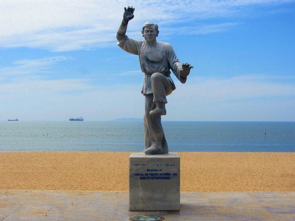 Statue of Binh Dinh martial artist, Quy Nhon, Vietnam
