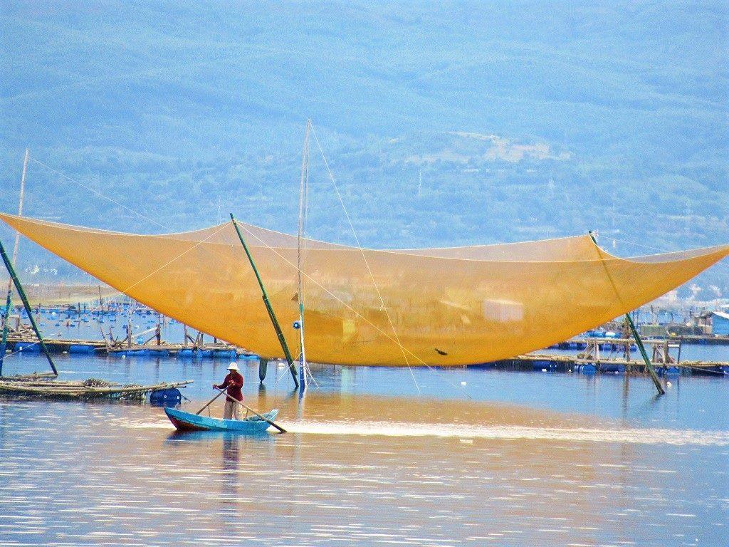 Fishing nets, Song Cau, Phu Yen Province, Vietnam