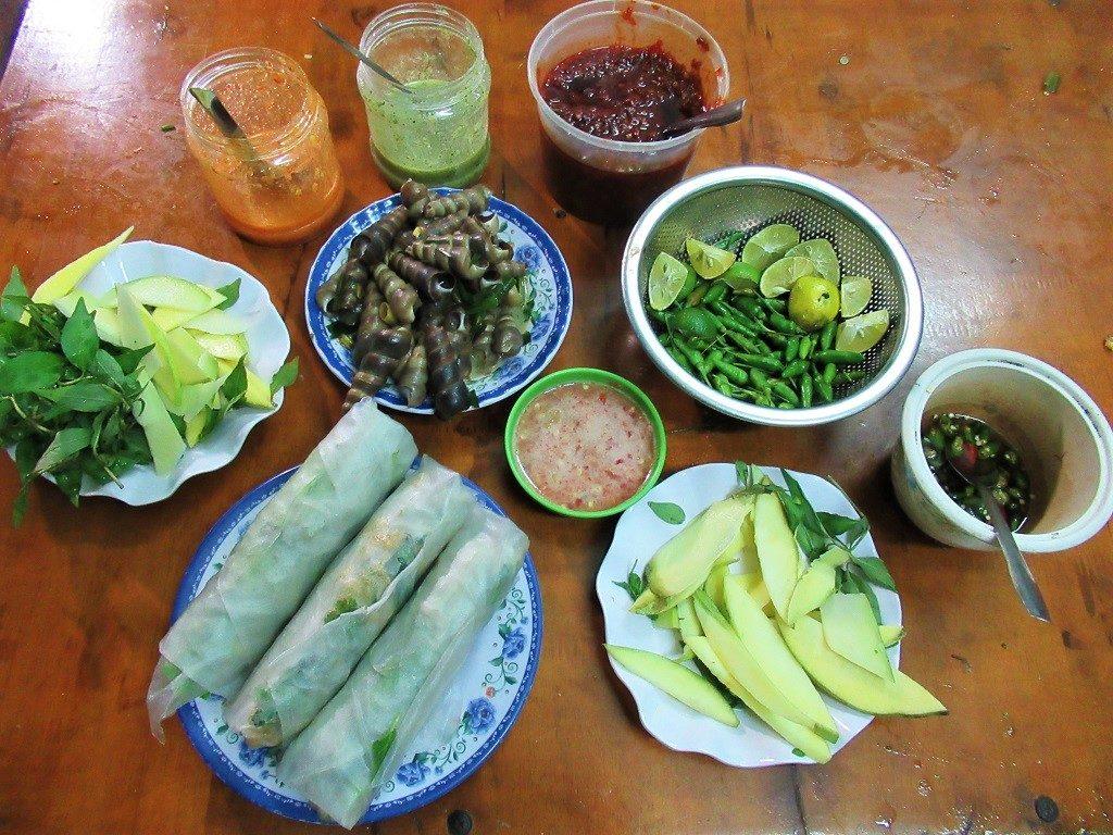 Street food in Quy Nhon, Binh Dinh, Vietnam