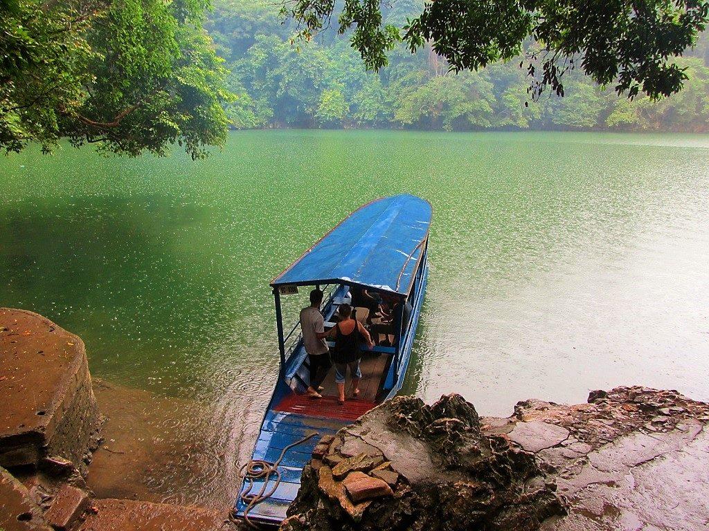 Boat trip on Ba Be Lake, Vietnam