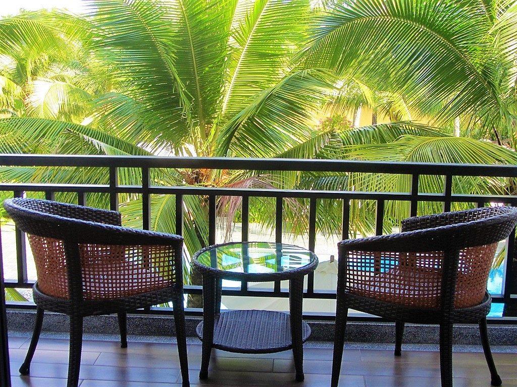 Guest room balcony at Hoi An Waterway Resort, Vietnam