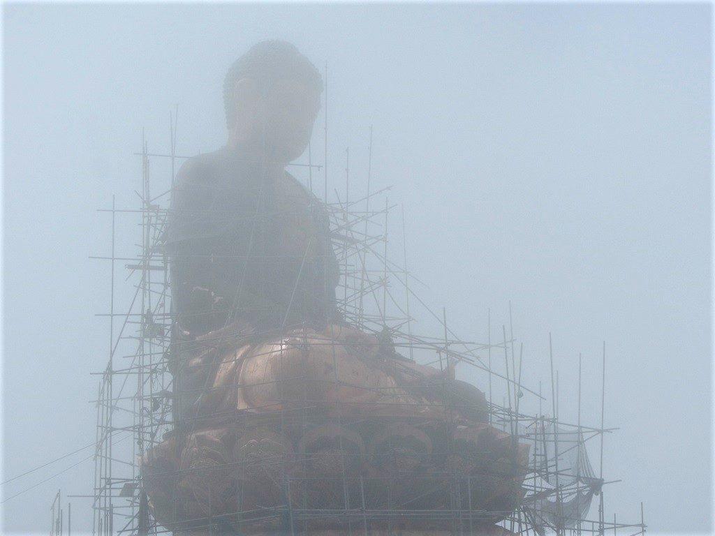Statue of seated Buddha, Fansipan mountain summit, Vietnam