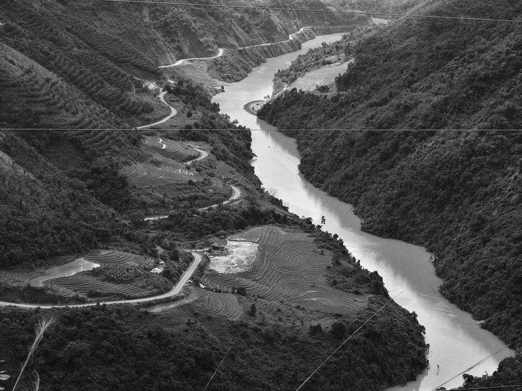 The Black River valley, Dien Bien Province, northwest Vietnam