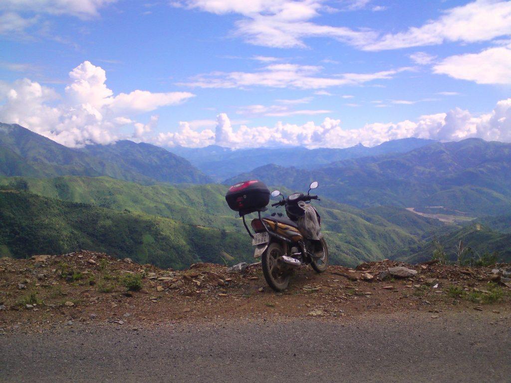 My motorbike in the Northwest mountains version 3