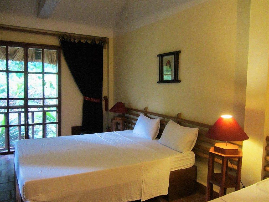 Guest room at Pan Hou Village Ecolodge, Ha Giang, Vietnam
