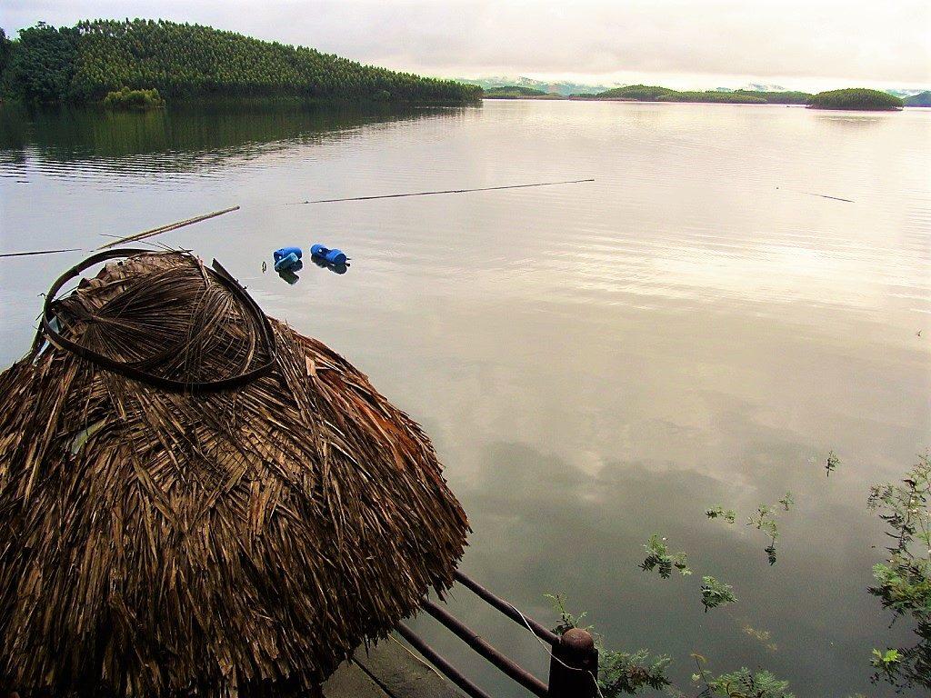View from Vu Linh homestays, Thac Ba Lake, Yen Bai Province, Vietnam