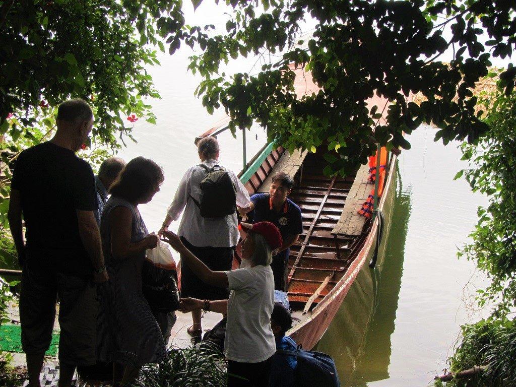 Boarding the boat on Thac Ba Lake, Vu Linh, Ye Bai Province, Vietnam