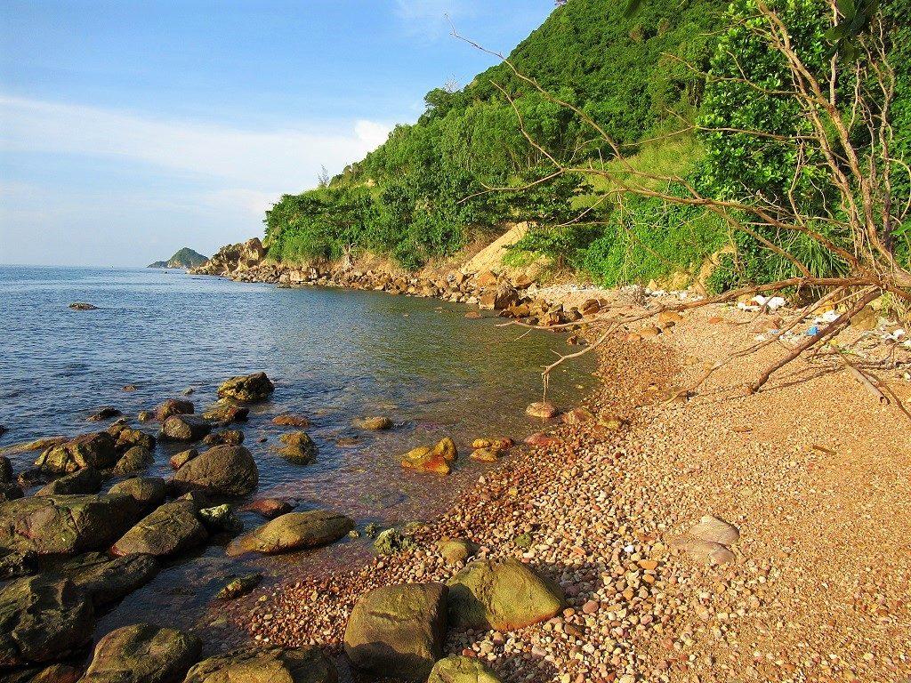 Volcanic rock beach, Nam Du Island, Vietnam