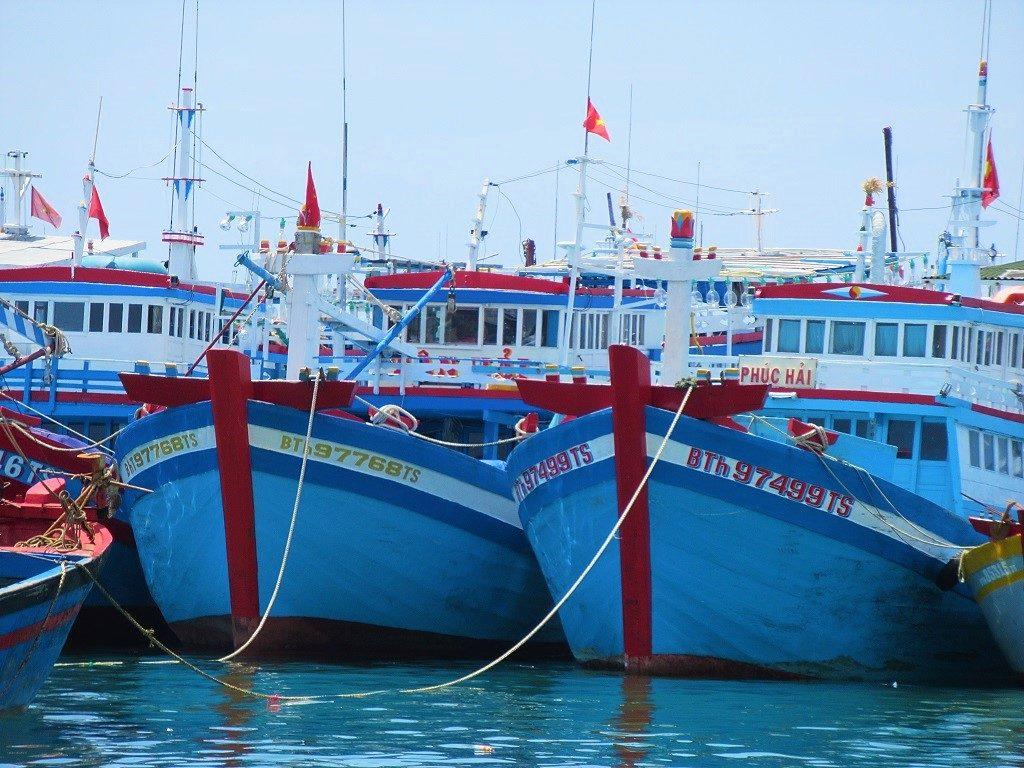 Fishing boats on Phu Quy Island, Vietnam