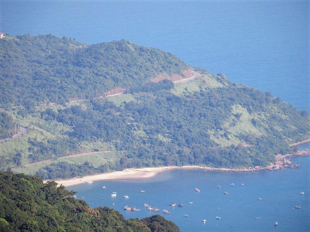 The coast road, Son Tra Peninsular, Danang, Vietnam