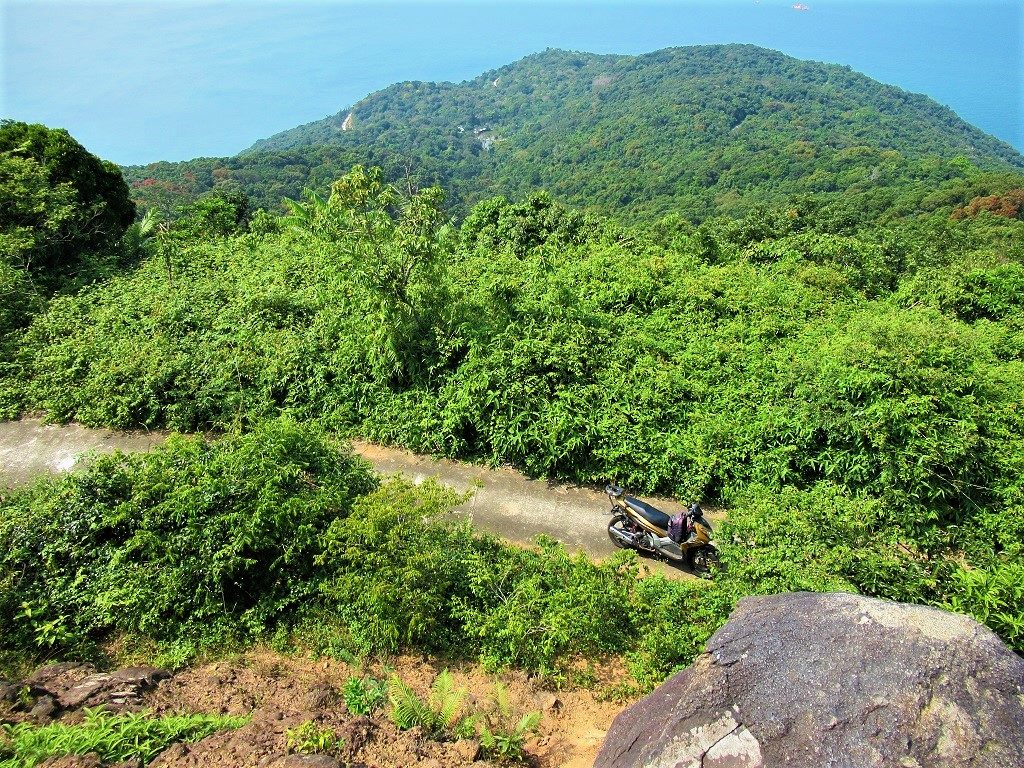 The Son Tra Peninsular road, Danang, Vietnam