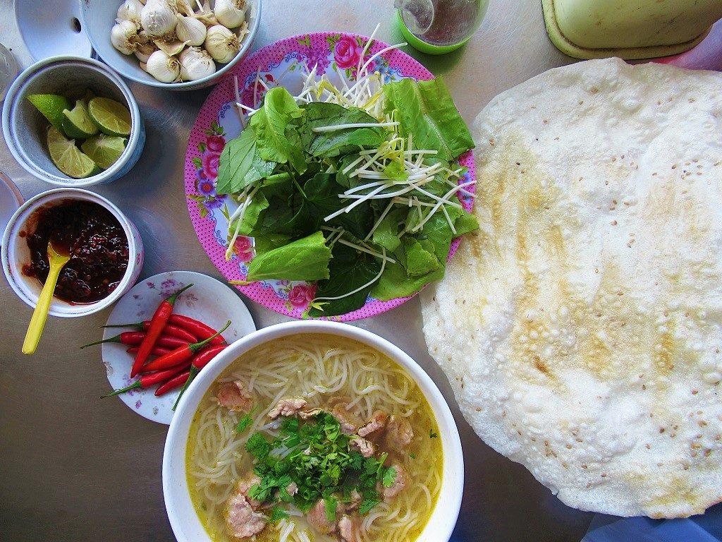Bún bó beef noodle soup, Ly Son Island, Vietnam