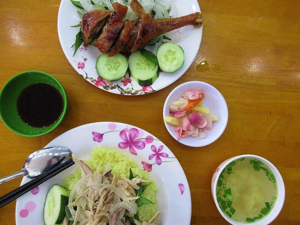 Com Ga (chicken rice) at Nhung 2, Quang Ngai, Vietnam