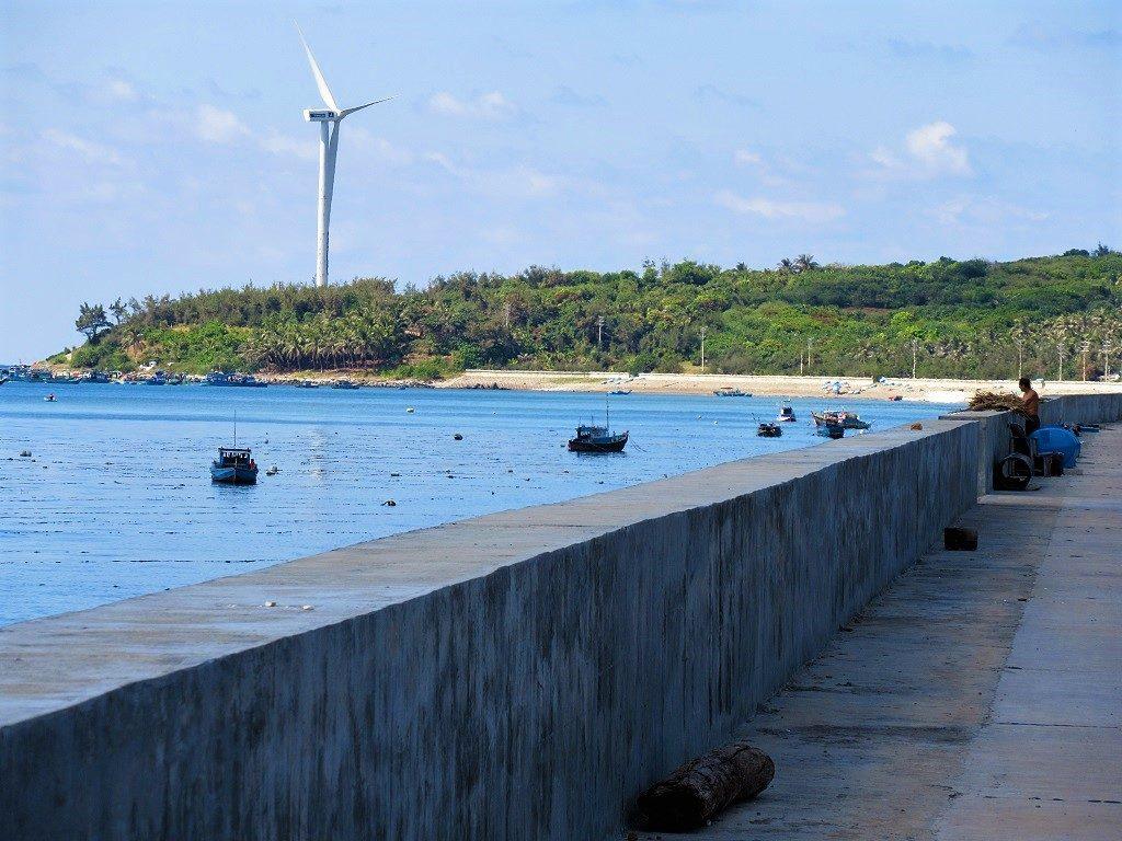 Embankment, Phu Quy Island, Vietnam