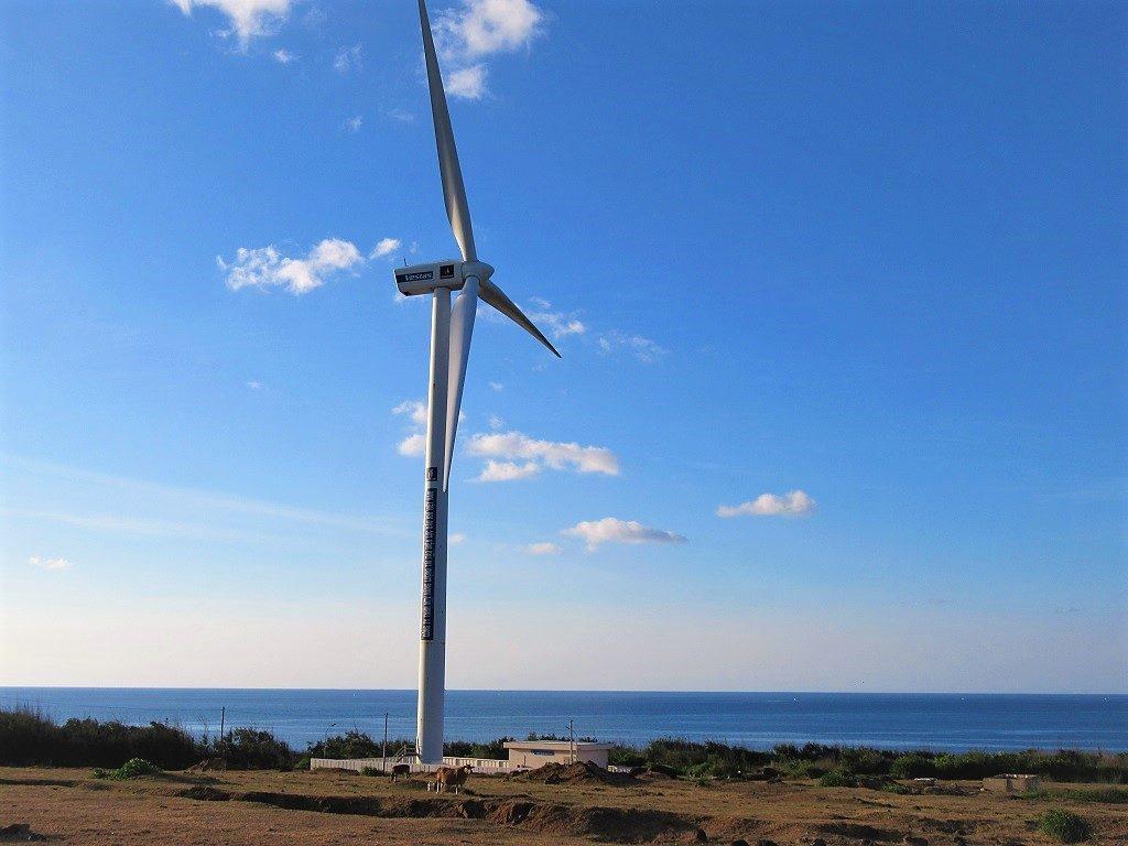 Wind energy turbine, Phu Quy Island, Vietnam
