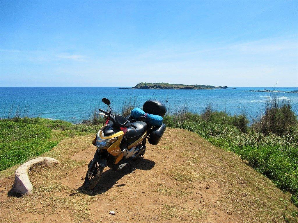 Riding around Phu Quy Island by motorbike