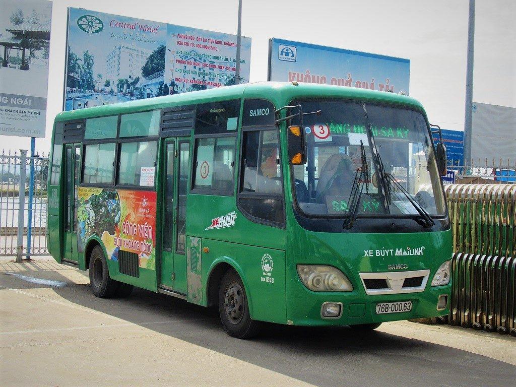 Bus No.3 from Quang Ngai to Sa Ky Port, Vietnam