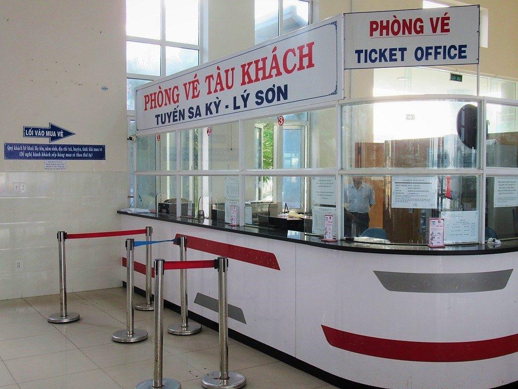 Passenger ticket office, Sa Ky Port, Vietnam