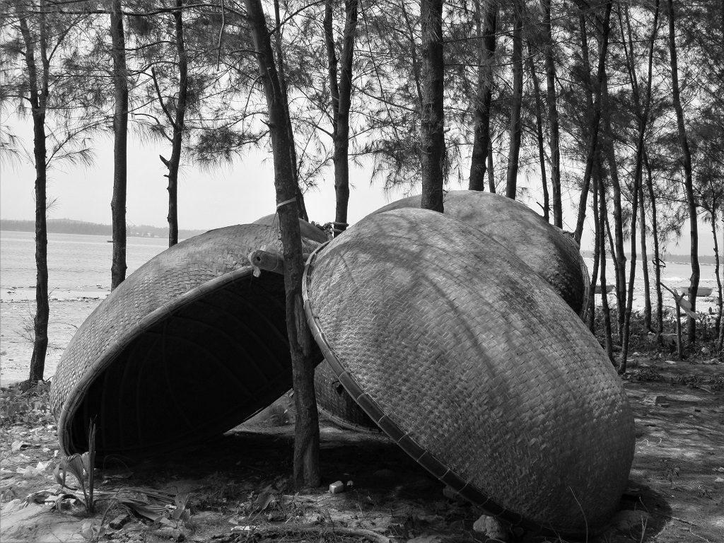 Fishing coracles, Tam Hai Island, Quang Nam Province, Vietnam