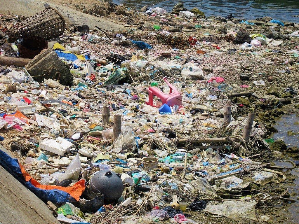 Trash on Ly Son Island, Quang Ngai Province, Vietnam