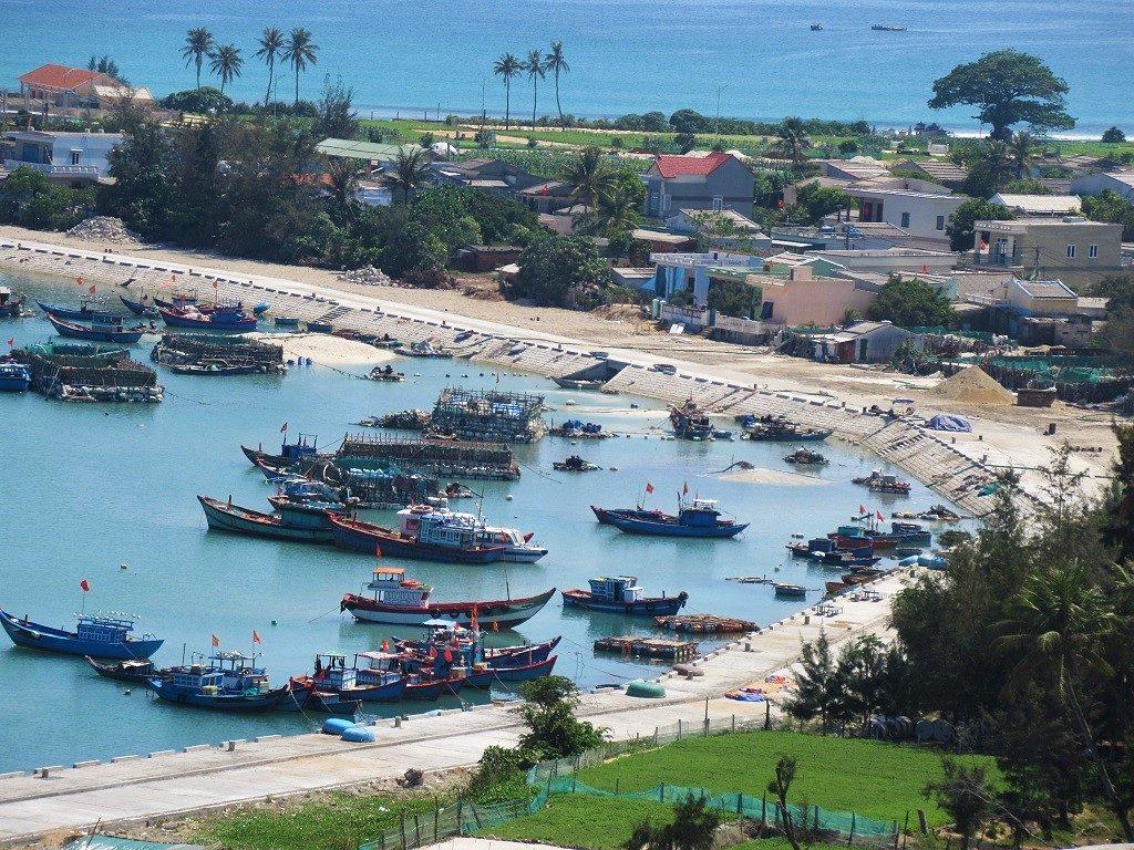 Fishing village, Ly Son Island, Vietnam