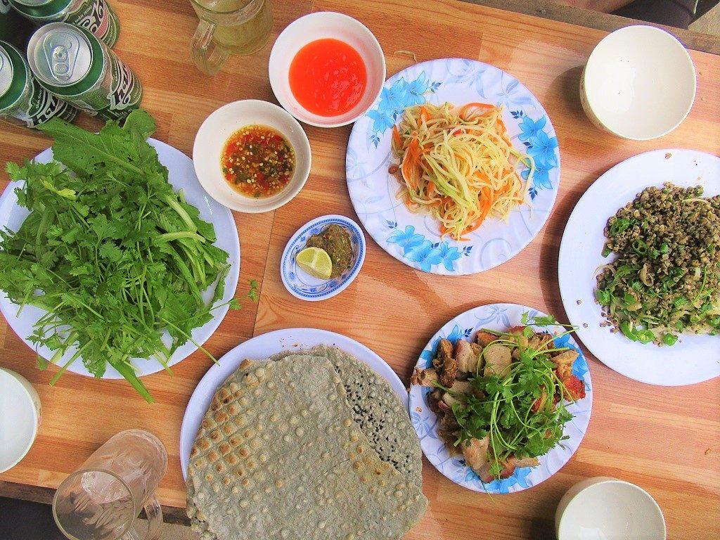 BBQ dinner at Quan Binh Hoa, Phong Nha, Vietnam