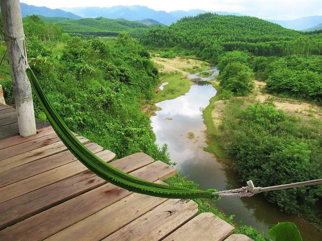 Hammock with river view, Bong Lai Vally, Phong Nha