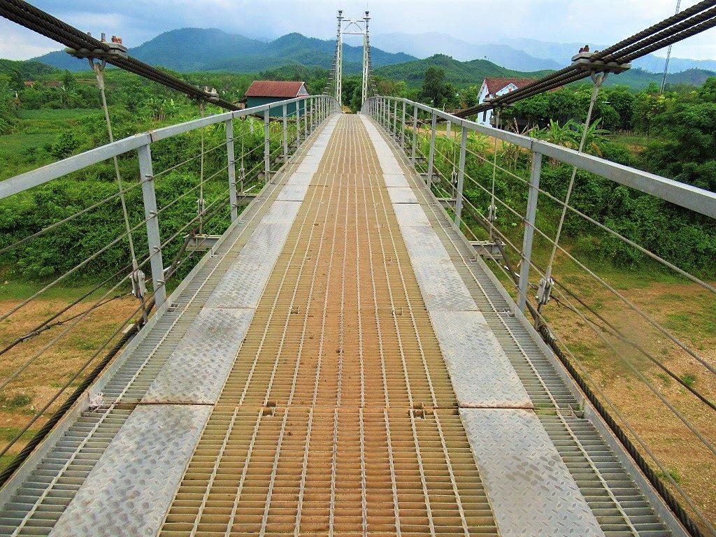 Suspension bridge, Bong Lai Valley, Phong Nha
